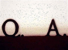 question and answer by ed ruscha