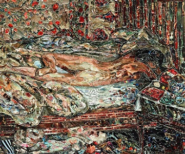 siesta, after bonnard by vik muniz