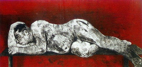 sleeper red by william kentridge