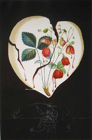 strawberries (coeur de fraises) by salvador dalí