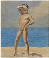 dreng på stranden. skagen, 1902 by jens ferdinand willumsen