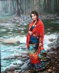 young gypsy girl by h. momo zhou