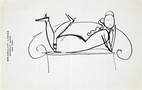 woman on settee by elie nadelman