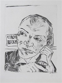 the barker by max beckmann