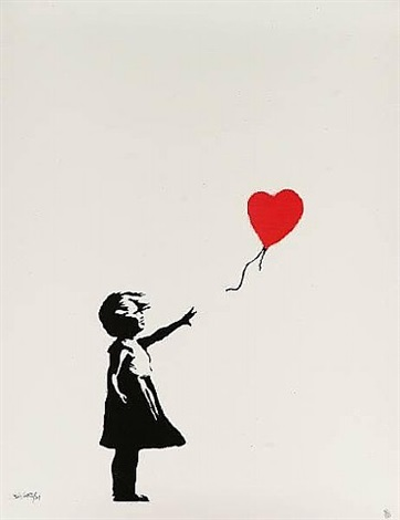 girl with balloon by banksy