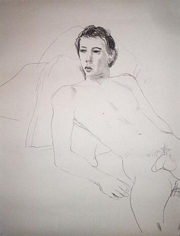 gregory reclining by david hockney