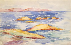 roches rouges by henri edmond cross