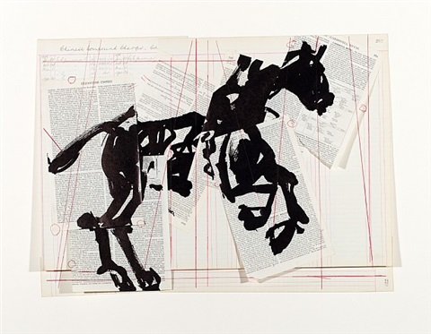 universal archive (horse) by william kentridge