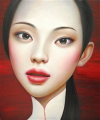 china girl in white by zhang xiangming