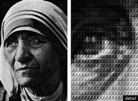 mother teresa vs gandhi by alex guofeng cao