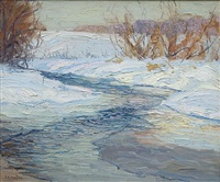river in winter by edward willis redfield