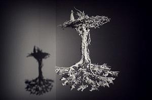 arbre retourné by mathieu briand