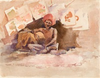 indian picture vendor by ralph wormeley curtis