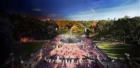 bethesda fountain, central park ny by stephen wilkes