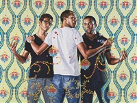 the three graces, 1881-1956 by kehinde wiley