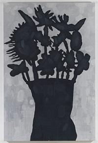 black flowers by donald baechler