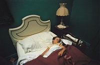 untitled (boy asleep in bed, lamp) by william eggleston