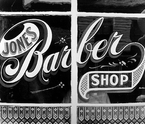 jones barber shop, bowling green, va. by peter sekaer