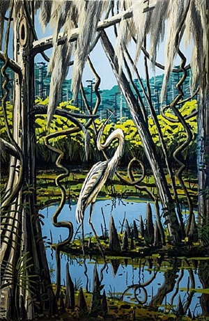 great american heron, summer by david bates