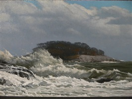 breaking wave at tuxis (sold) by peter bergeron