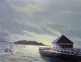 evening sail off tuxis by james magner