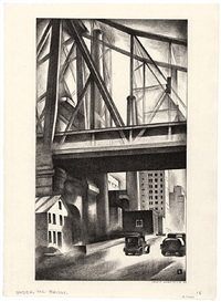 under the bridge by louis lozowick