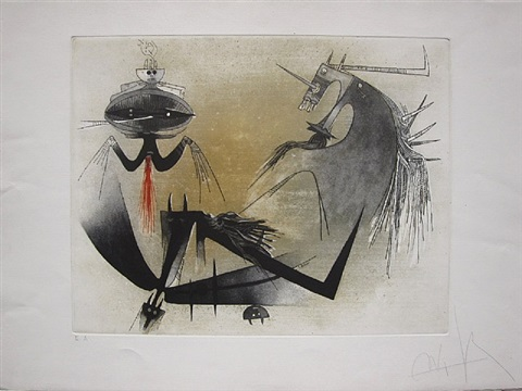 trois personnages by wifredo lam