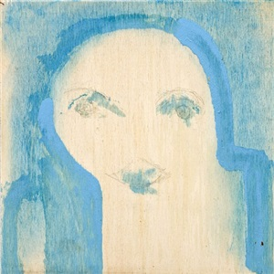 untitled (blue background) by marisa merz