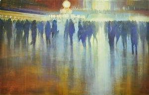 nyc, grand central station, luminous horizon (sold) by david allen dunlop
