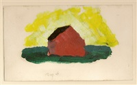 the red barn by arthur dove