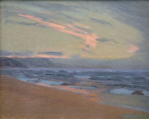 sunset at gay head, martha's vineyard, ma by arthur wesley dow
