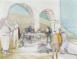das letzte abendmahl (vorbereitung) by siegfried anzinger