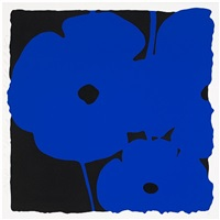poppies, june 6, 2011 (blue) by donald sultan