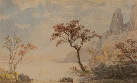under the palisades by jasper francis cropsey