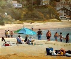 beach stroll by roxann poppe leibenhaut