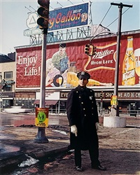 policeman, 59th st., new york by evelyn hofer