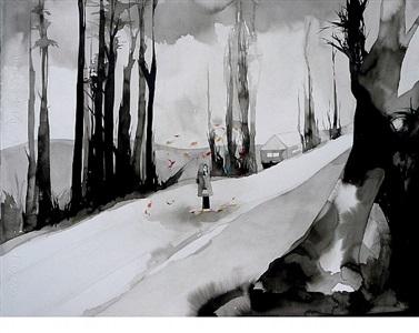 autumn road by allison hawkins