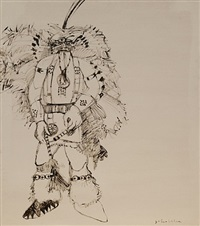 tourist indian by fritz scholder