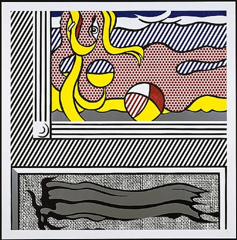 two paintings: beach ball (from paintings series) by roy lichtenstein