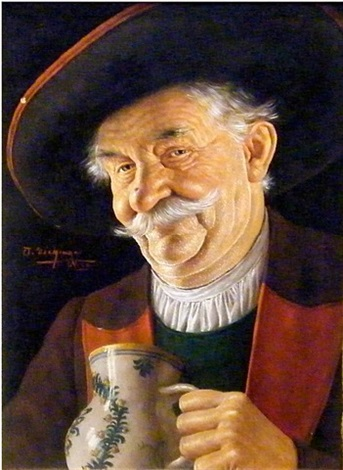 gentleman with stein by otto eichinger