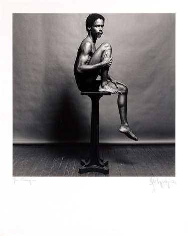 phillip prioleau nyc on a pedestal side facing by robert mapplethorpe