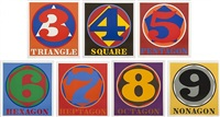 polygon suite (a set of seven prints) by robert indiana