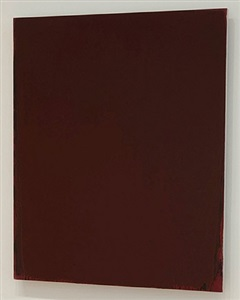 maroon painting by joseph marioni