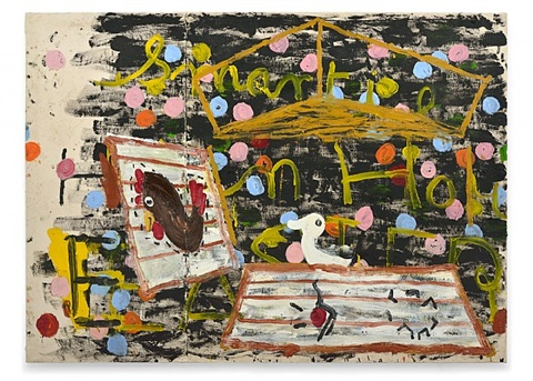 smartie hen house by rose wylie