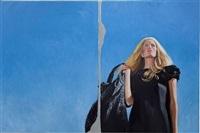 blonde on blue by delia brown