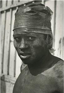 obrero con turbante (worker with turban), negromex series, cuidad de méxico by rodrigo moya