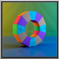upright dodecagon viii by ronald davis