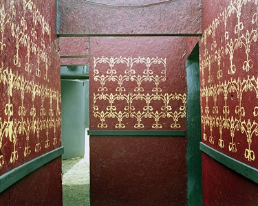 red and gold corridor, haunted graveyard, ct by lisa kereszi
