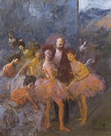 le foyer a l'opera by jean louis forain