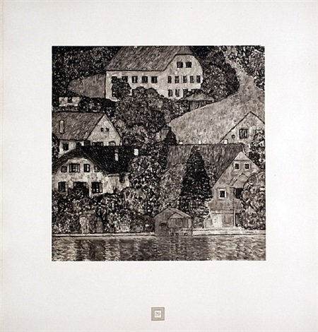 on lake atter from <i>aftermath</i> by gustav klimt